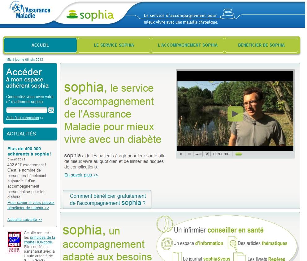 Extrait du site ameli-sophia.fr