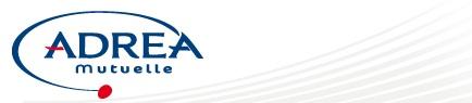le logo de la mutuelle adrea en 2014