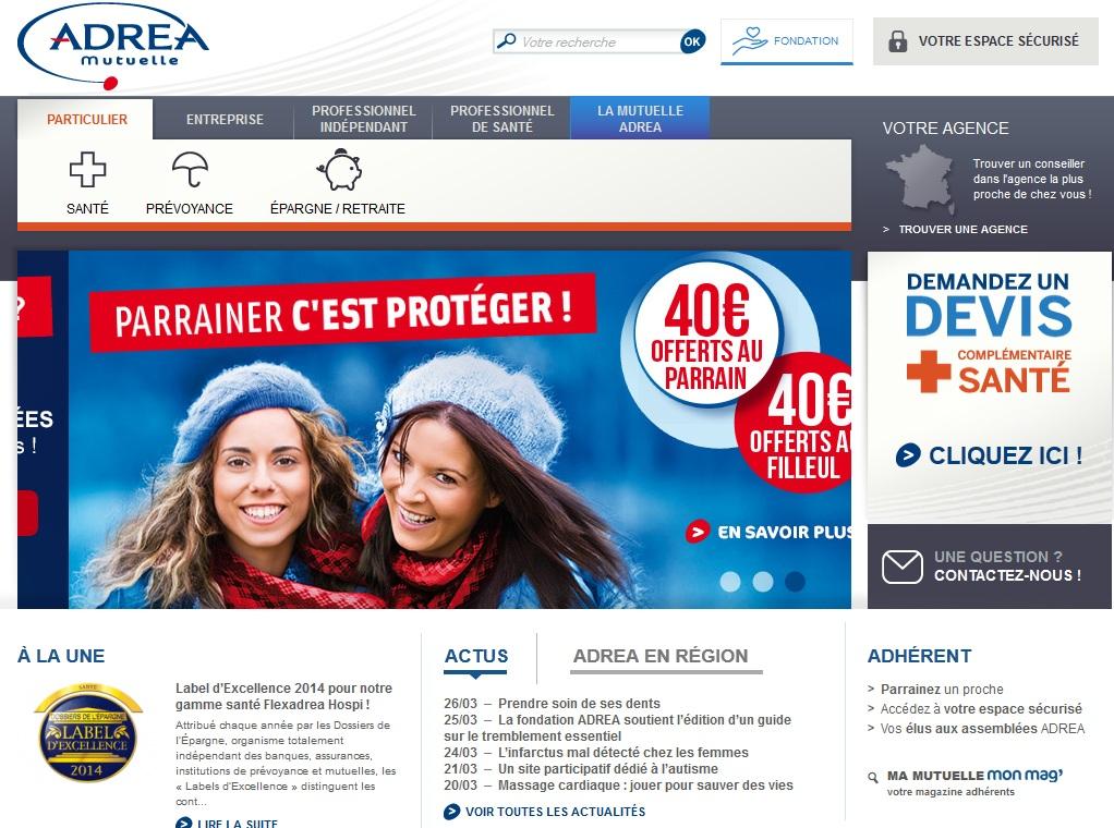 Accueil du site adrea.fr