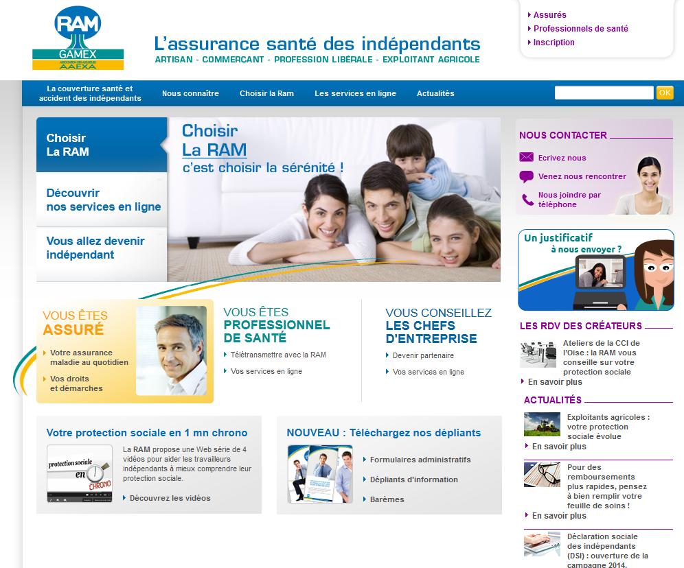 Extrait de la page d'accueil du site ramgamex.fr