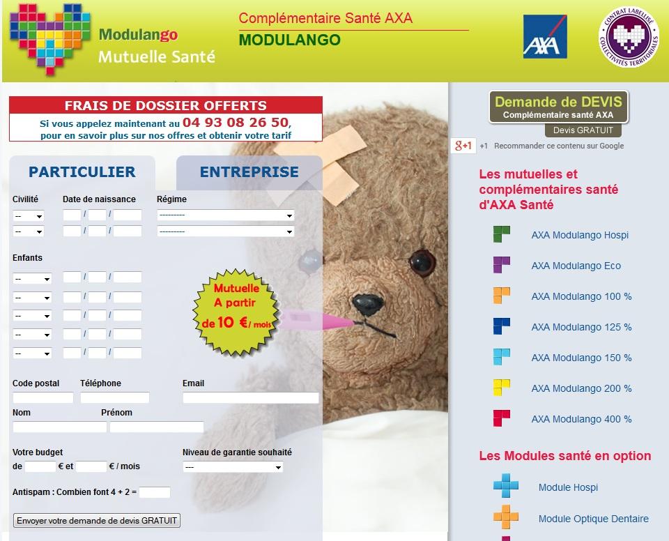 AXA mutuelle Santé   Infos en Ligne 981b6c636207