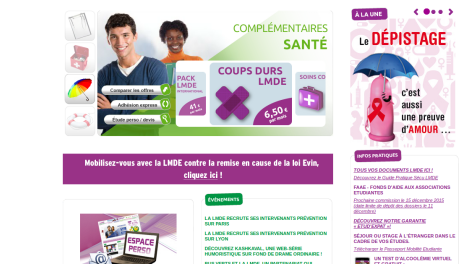 Page accueil LMDE